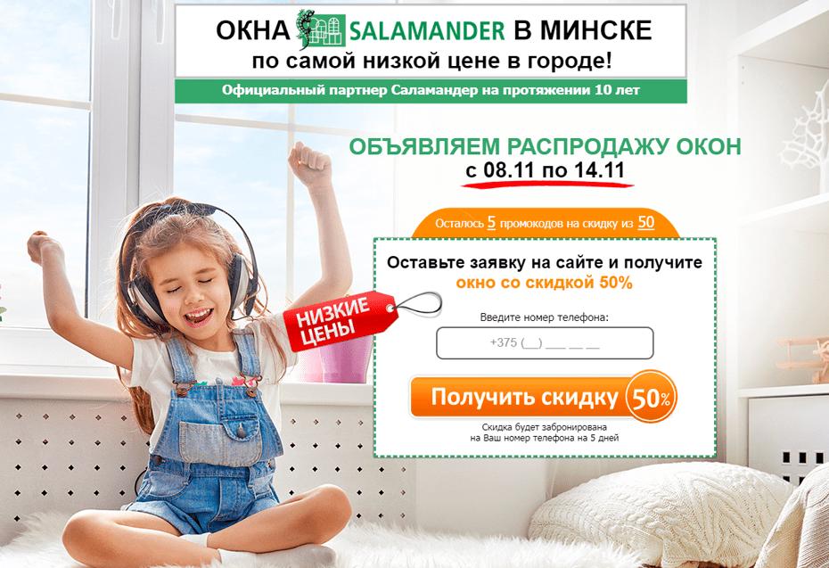 Кейс №40 Продажа и установка окон Salamander в Минске